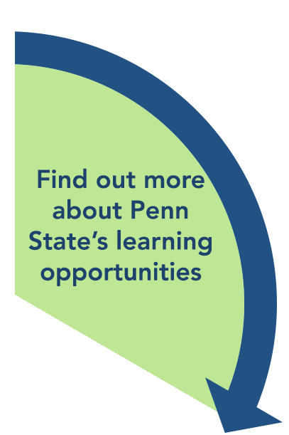 Find out more about Penn State's learning opportunities.