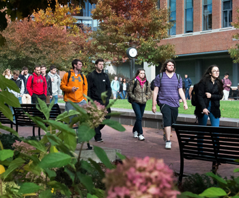 Students walking on the University Park Campus.